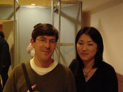 Darcy Paquet with wife Hyeon-sook